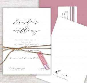 J'adore flat card invitation