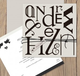 name game wedding invitation