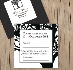 Enchanted tree laser cut black RSVP