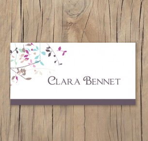 autumn leaves placecard