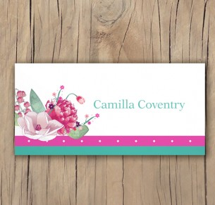 botanical burst placecards
