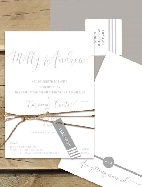 Mykonos flat card invitation
