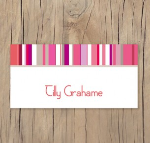 french stripe placecard
