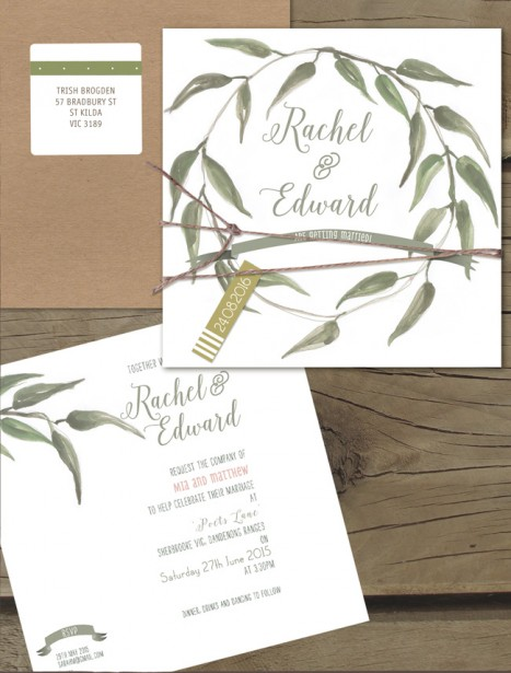 Under The Gumtree Flat Card Invitation Online Australia Lilykiss