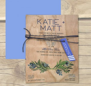 printed on wood! saint tropez invitation