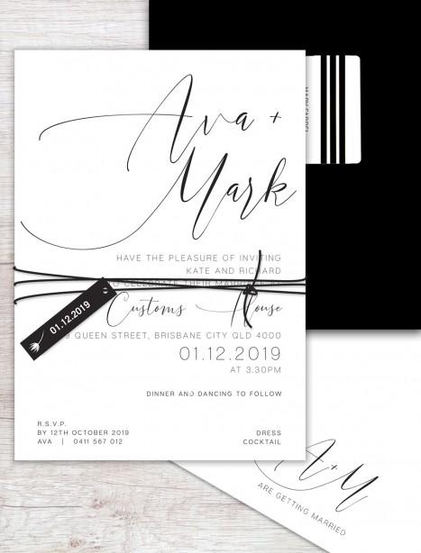 Oh so chic wedding invitation