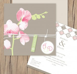orchid delight wedding invitation